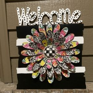 Mackenzie Childs inspired Welcome Sign